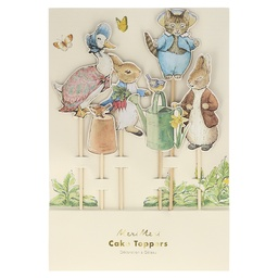 Toppers para Tarta o Decoración Peter Rabbit
